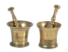 An English or Dutch cast brass mortar