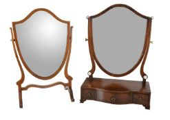 A mahogany platform dressing table mirror in George III style