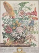 A set of twelve 'Months of Flowers' prints after coloured engravings by H. Fletcher