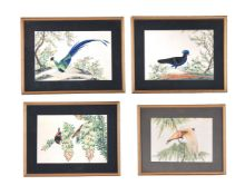 A set of eight Chinese watercolours on pith paper