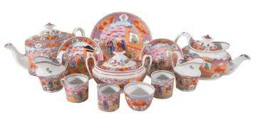A selection of English porcelains in the Chinese Export style