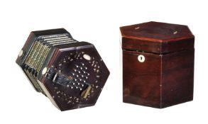 ϒ A 48 key hexagonal concertina, Lachenal & Co.