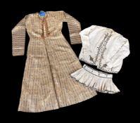 A woven silk brocade coat