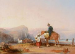 William Shayer Snr. (British 1787-1879)On the beach