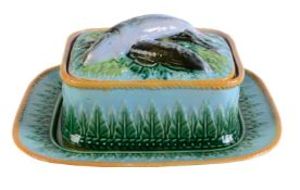 A George Jones majolica rectangular sardine dish