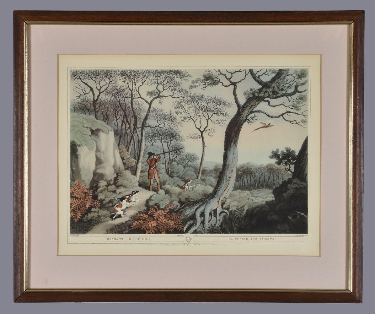 Lot 24 - A set of three coloured prints after Samuel Howitt