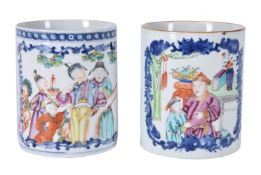 Two Chinese export mugs