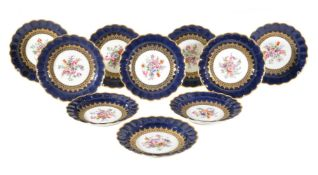 A set of ten Royal Worcester plates