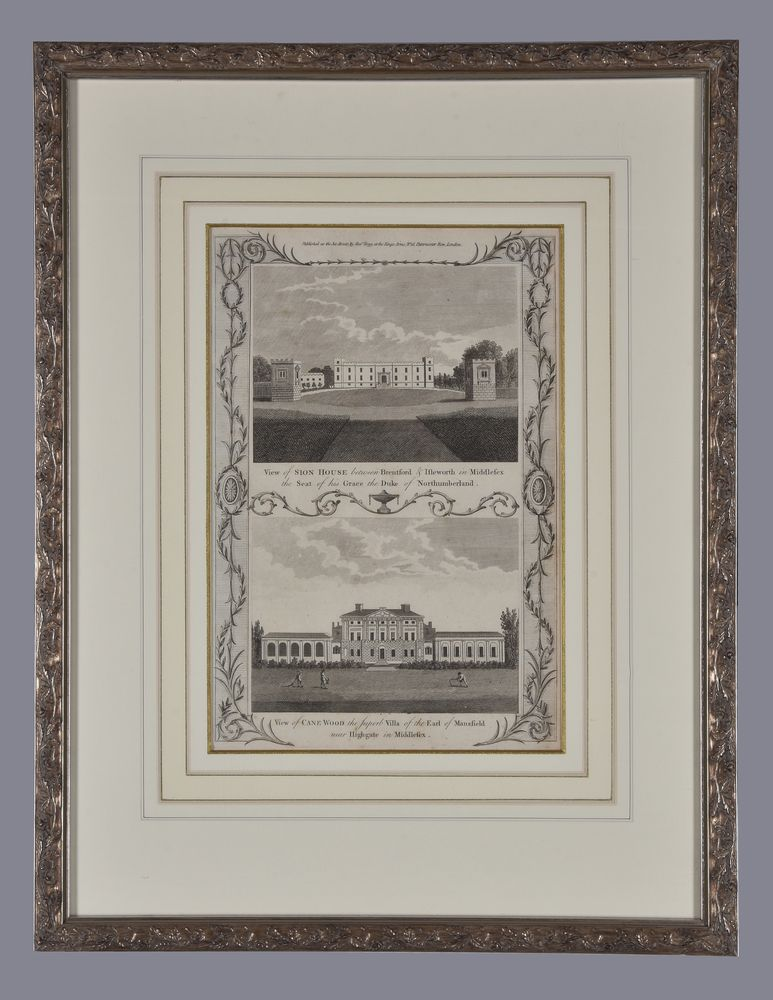 Lot 57 - A set of six architectural engravings for Thornton's New and Complete History and Survey of London a