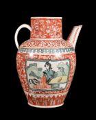 A Russian porcelain Yuan-style ewer