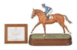 A Royal Worcester equestrian model of Grundy and Pat Eddery