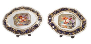 A pair of Derby oval dishes