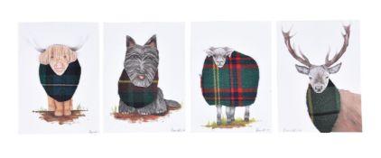 Ruaridh Lever-Hogg, Highland cow; Stag; Ram; Scottie dog