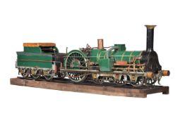 A 7 ¼ inch gauge model of the 2-2-2-2 Crampton tender locomotive 'Liverpool'