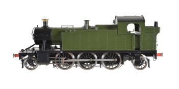A gauge 1 Bachmann by Finescalebrass model of a 2-6-2 Prairie side tank locomotive
