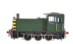 A gauge 1 Sancheng model of an 0-6-0 diesel locomotive