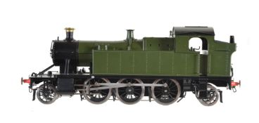 A gauge 1 Bachmann by Finescalebrass model of a 2-6-2 prairie tank locomotive