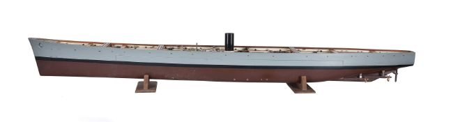 A rare model of a 'below deck level' on Battleship H.M.S.Vanguard