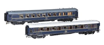 Two CIWL twin bogie corridor coaches