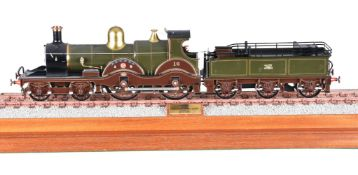 A fine gauge 1 model of a Great Western Railway Armstrong Class 4-4-0 tender locomotive No 16 'Brune
