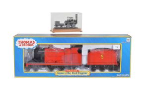 A Bachmann 175 anniversary model of locomotive 1 and a Bachmann 'James the Red Engine'