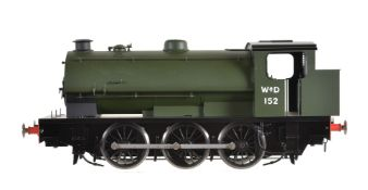 A gauge 1 Sancheng model of a War Department 0-6-0 saddle locomotive