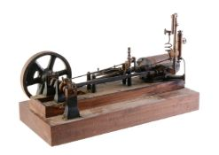 A well-engineered model of an early 20th Century live steam horizontal mill engine