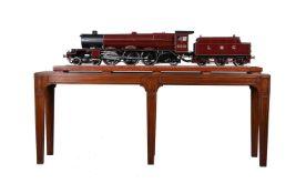 A 5 inch gauge model of 4-6-2 London Midland and Scottish Princess Royal Class tender locomotive No