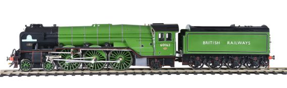 A gauge 1 model of a British Railways 4-6-2 tender locomotive No 60163 'Tornado'