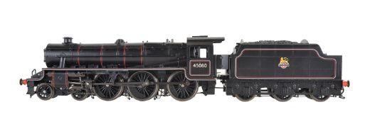 A gauge 1 model of a Class 5MT 'Stanier Black 5' tender locomotive No 45080