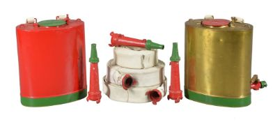 A collection of three naval fire hoses