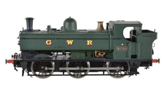 A gauge 1 Sancheng model of a 0-6-0 pannier tank locomotive No 5721