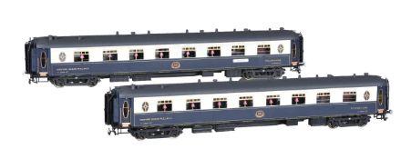 Two CIWL twin bogie corridor Pullman coaches