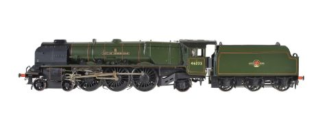 A scratch-built gauge 1 model of the 4-6-2 tender locomotive 'City of Birmingham'