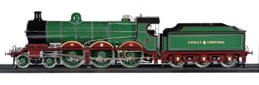 A 7 ¼ inch gauge model of a 4-6-0 Robinson Class 8F Great Central Railways tender locomotive No 1095