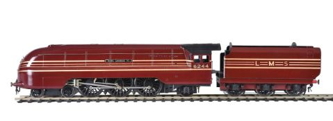 A gauge 1 model of a 4-6-2 tender locomotive No 6244 'King George VI'