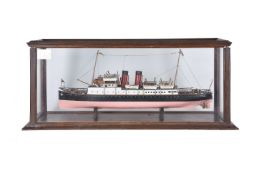 A cased static model of the steam passenger ship 'Jean'