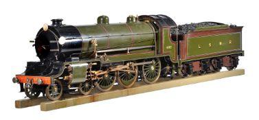 A 7 ¼ inch gauge model of a H15 Class London South Western Railway 4-6-0 tender locomotive No 486