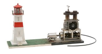 A model of a twin cylinder Sterling hot air engine