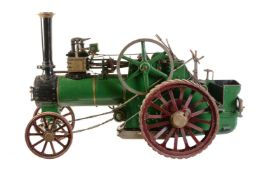 A well-engineered 2 inch scale model of a Minnie Agricultural traction engine built by L.Meakins