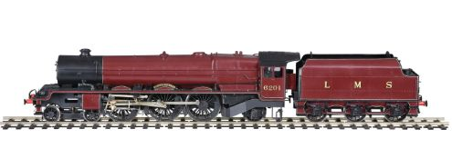 A gauge 1 model of a London Midland and Scottish Duchess Class 4-6-2 tender locomotive No 6201 'Prin