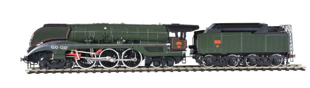 An Aster for Fulgurex gauge 1 French streamline 4-6-4 tender locomotive SNCF 232 U-1
