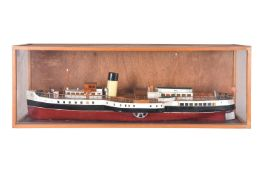 A cased static model of the Paddle Steamer 'Marchioness of Lorne' Glasgow