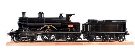 A 9½ inch gauge model of the LNWR Precursor Class 4-4-0 locomotive and tender No 1941 'Alfred the Gr