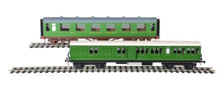 A collection of SR twin bogie suburban and corridor coaches