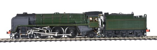An Accurcraft for 'gauge 1 Model Company' model of a live steam 4-6-2 British Railways tender locomo