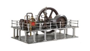 A fine exhibition standard model of a horizontal live steam mill engine