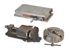 A magnetic milling vice