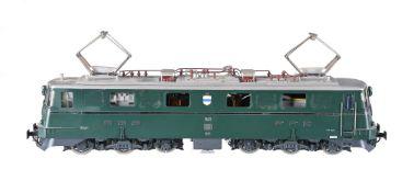 A Hermann Swiss four-axle Co-Co Ae 6/6 Electric locomotive No 11411