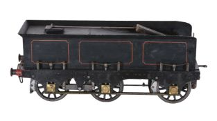 A well-engineered 5 inch gauge six wheel locomotive tender